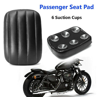 Motorcycle Leather Rear Passenger Pillion Seat Pad 6 Suction Cups For Harley AU
