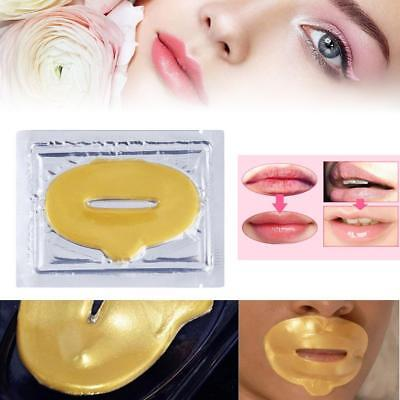 5pcs Lip Masks Gold Crystal Collagen Patch Anti Ageing Wrinkle Moisturising  FT