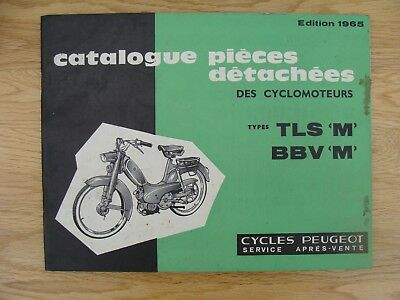 PEUGEOT TLS M & BBV M   Spare Parts Book (GENUINE  MANUAL) IN FRENCH