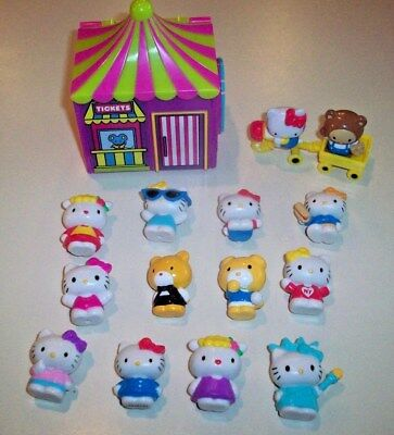 "Sanrio Jakks Hello Kitty World Lot ~ Carnival Tent & Assorted 1""Figures"