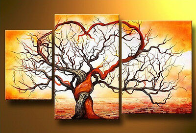 Hand-painted Modern Abstract Huge Wall Art Oil Painting On Canvas No Frames tree