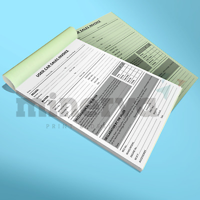 Used Car Sales Invoice Receipt Pad A5 for Selling Motor Vehicle Ideal for Trade
