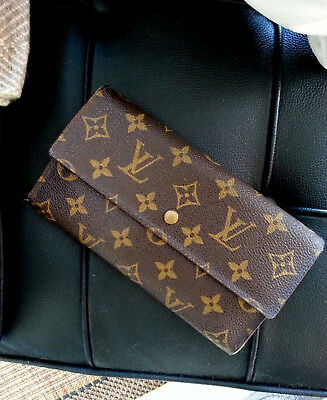 30b08816a3ab4 ORIGINAL LOUIS VUITTON Sarah Monogram Canvas LV Geldbörse Geldbeutel ...