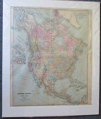 Canada & the United States. Map. 1898.