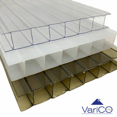 10mm Polycarbonate Roofing Sheets For Lean To or Car Port Clear / Bronze / Opal