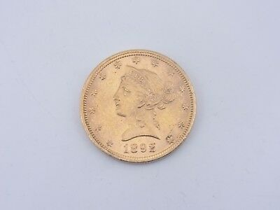 10 Dollars 1892 Liberty Head Gold ORIGINAL M19