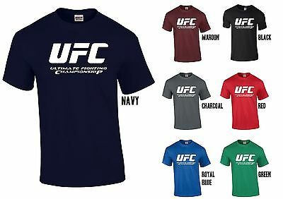 Ufc Ultimate Fighting Championship T Shirt Mma Bodybuilding Gym Fitness Tee