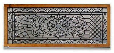 Leaded and Beveled Glass Panel, Early 20th c. #2193