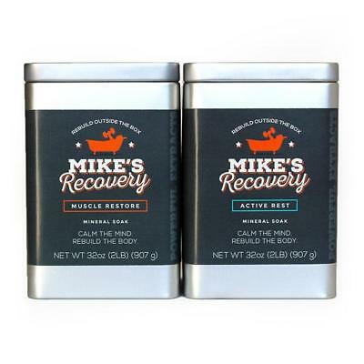1Mike's Recovery REST & RESTORE Mineral Soak 2lb Classic Tin Combo Mikes