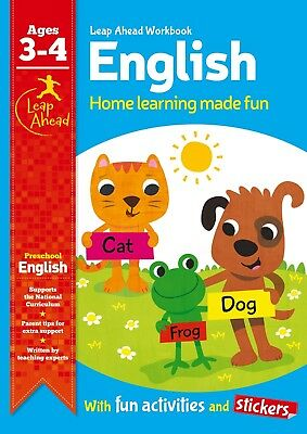 Leap Ahead English Workbook From Igloo Books. Children's Home Learning (Age 3-4)