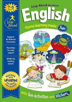 Leap Ahead English Workbook From Igloo Books. Children's Home Learning (Age 7-8)