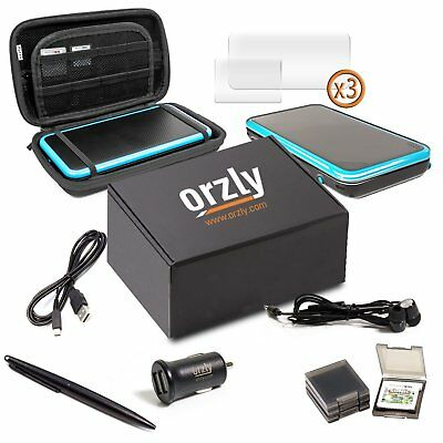2DSXL Accessories, Orzly Ultimate Starter Pack for New Nintendo 2DS XL Bundle /