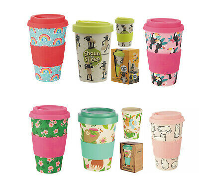 Reusable Travel Mug Insulated Coffee Tea cup with S/S Lid Unicorn Cat Floral