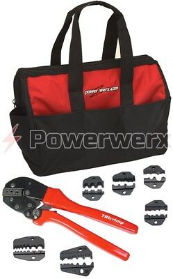 Powerwerx CRIMPBAG Powerpole Crimping Tool and Accessory Die Sets w Nylon Bag