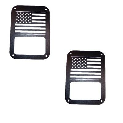 Tail Light Guards Steel Black Rear Covers For Jeep Wrangler 2007-2016