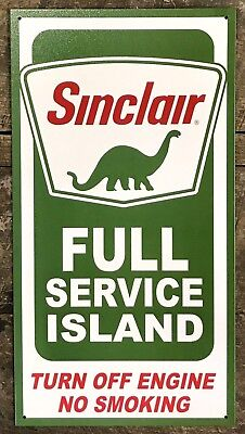 Sinclair Gas Station Vintage Metal Tin Ad Sign Picture Poster Dinosaur Decor