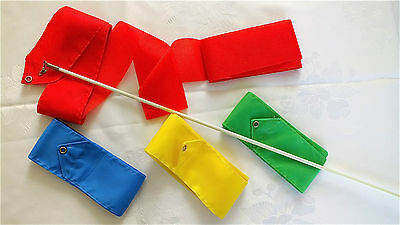 12 Color 4M Dance Riboon Rod Streamer Twirling Chinese New Year Dance Gym Party