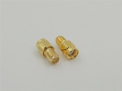 RP SMA Male Plug to RP SMA  Female 50Ω Adapter Coaxial Connector - UK Seller