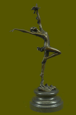 Vitaleh Nude Goddess Bronze Sculpture Marble Base Figurine Home Decor Gift