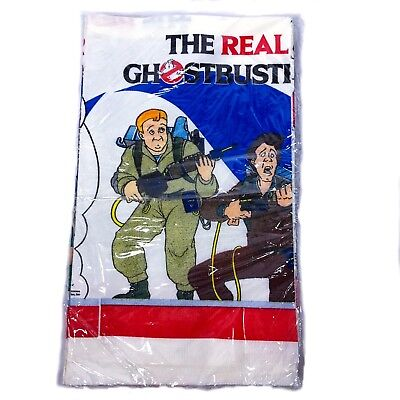 The Real Ghostbusters Tablecloth 1986 80s Party Decorations Unopened Sealed