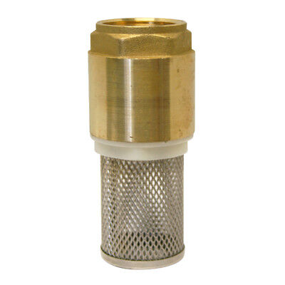 "BRASS BSP SPRING CHECK VALVE + STAINLESS STRAINER - 1/2"" To 4"" - FOOT VALVE"