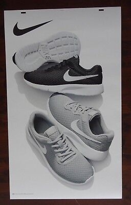 Nike Black Gray Shoe Advertising Poster Large 24 x 40 Thick Posterboard Signage