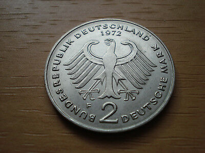2 Deutsche Mark  1972  *F*   HEUSS   BUNDESREPUBLIK  KURSMÜNZE