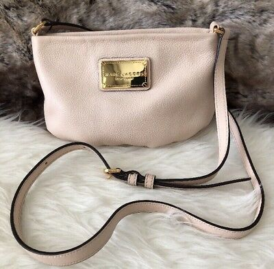 084d26d3b9f8 NWT Marc Jacobs Small Crossbody Shoulder Bag Purse In Pale Pink Shell  Leather