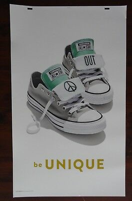 Converse Peace Out Poster Advertising Large 24 x 40 Thick Poster Board Signage