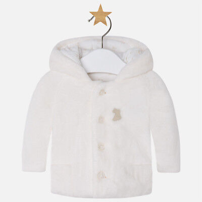 SALE BNWT Mayoral Unisex Off White Baby Coat 0-1MONTH