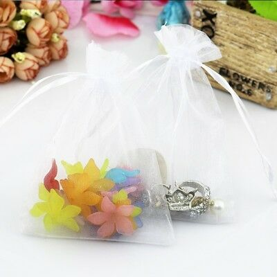 25 IVORY Organza Bags Wedding Favor Jewellery Candy Party Gift Pouches Wedding