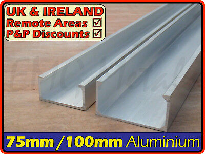 Aluminium Lipped Channel║76 x 38 mm⫽100 x 50 mm║C section,profile,Runner