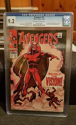 The Avengers 57 1st app Vision cgc 9.2