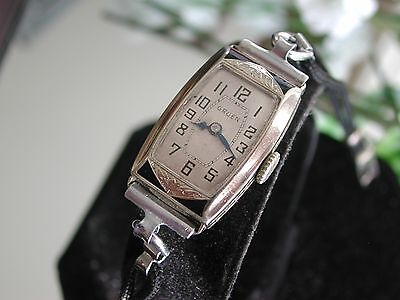1930's Ladies Art Deco Enamel Gruen Watch ~  Runs