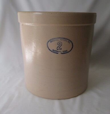 "Vintage or Antique Marshall Pottery Inc 2 Gallon Tan Stoneware Crock ~ 10"" High"