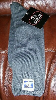 Old Stock Vintage Men's Socks Dark Gray USA Cotton 10 - 13 PS Socks NWT 70's 80s
