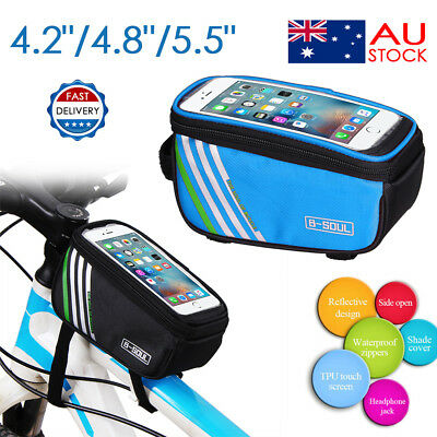 Bicycle Bike Frame Front Tube Pack Waterproof Cycling Mobile Phone Holder Bag AU