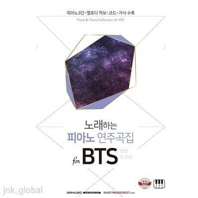 NEW Vocal & Piano Collection for BTS Bangtan Boys Music Book Smyang Kpop