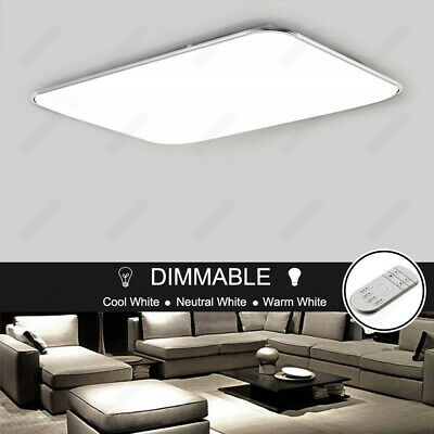 Dimmable LED Ceiling Panel Light Fixture Bedroom Living Room Surface Flush Mount