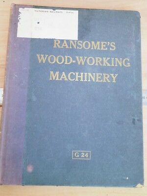 OLD RANSOMES WOODWORKING EQUIPMENT MACHINERY BROCHURE VIC RAILWAYS (i535)