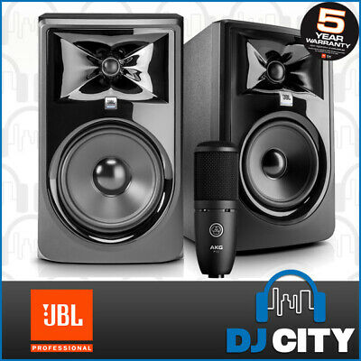 JBL LSR308P mkII 8-Inch Powered Studio Reference Monitor Pair Recording Speakers
