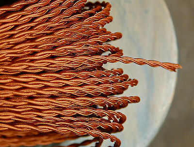 Copper Color Twisted Cloth Covered Wire, Vintage Style Lamp Cord, Antique Lights