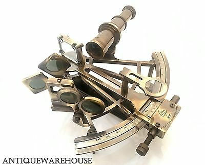 Antique Brass Working Sextant Maritime Sextant Marine Ship Gift Home Decorative