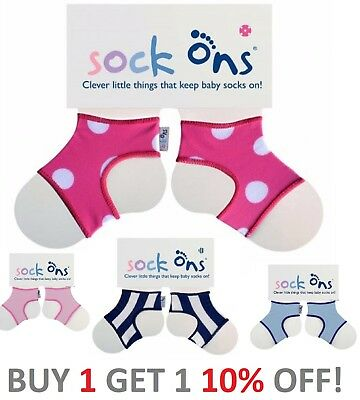 Babies Sock Ons Sock Keepers - Various Colours & Sizes Available Fast Delivery
