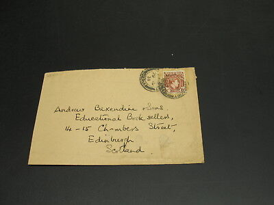 Nigeria 1938 cover to UK surface faults *2844