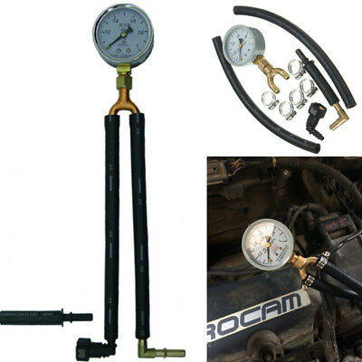 Universal Car Fuel Pressure Tester Gauge Analogue Gasoline MPa Hose Adapter Kit