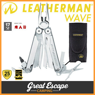 Leatherman WAVE Multi-Tool with Nylon Sheath. 17 Tools. Aus Stock & Warranty!