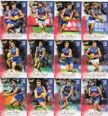 2018 Afl Select  Footy Stars Western Bulldogs   Full Set Of Commons 12 Cards