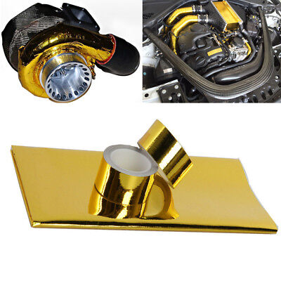 "High Performance Thermal Heat Shield 5m Tape & 20x20"" Sheet Turbo Engine Wraps"