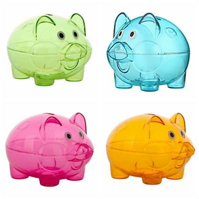 Lovely Plastic Clear Piggy Bank Pig Cash Coin Saving Box Party Favors Kids Gifts
